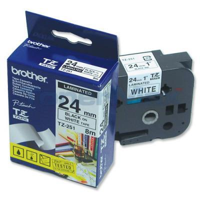 BROTHER P-TOUCH TAPE BLACK/WHITE (1 X 26)